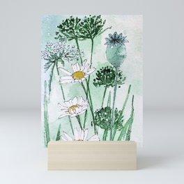Thistles and Daisies Mini Art Print