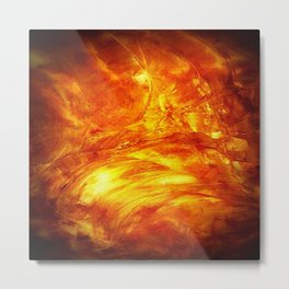 Surface Of The Sun - Leo - Science - Hipster - Hot Metal Print