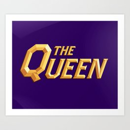 The Queen Full Logo Art Print