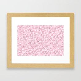Flower doodle in rose Framed Art Print