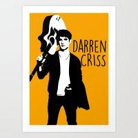 darren criss Art Prints featuring Darren Criss with guitar! by byebyesally