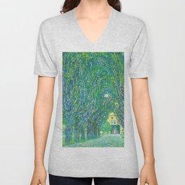 Gustav Klimt - Allee im Park von Schloss Kammer (new editing) Unisex V-Neck