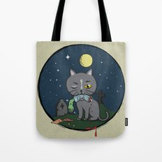 Cats love zombie meat! Tote Bag