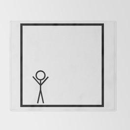 Stickman Throw Blanket