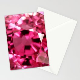 VERY PINK SAPPHIRE OCTOBER BABY'S BIRTHSTONE ART Stationery Cards