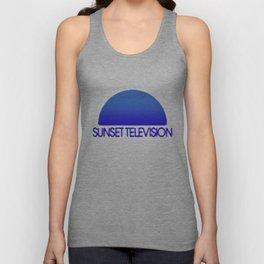 Sunset Television Logo Blue Unisex Tank Top