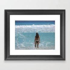 Carribean sea 1 Framed Art Print