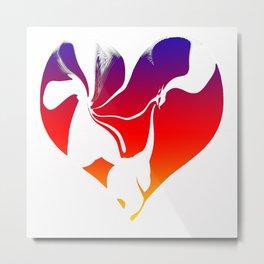 Flowing Heart Metal Print