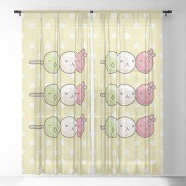 Hanami Dango Sheer Curtain