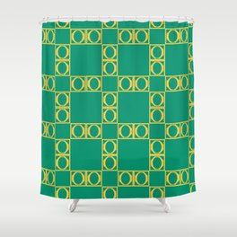 angle yellow & green Shower Curtain