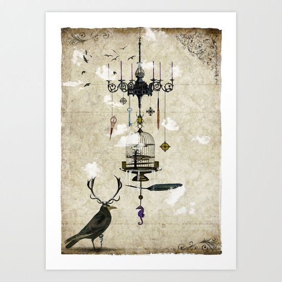 The Crow's Treasures Art Print