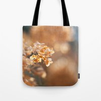 gold glitter Tote Bags featuring Gold Glitter by Katie Kirkland