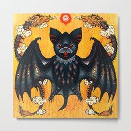 Black Bat Metal Print