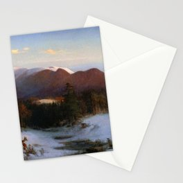 Mount Lafayette In Winter 1870 By Thomas Hill | Reproduction Stationery Cards