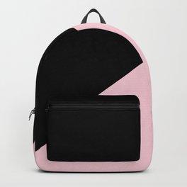 Black & Soft Pink - oblique Backpack