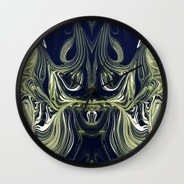 Blue Oil Gestalt Abstract IV Wall Clock