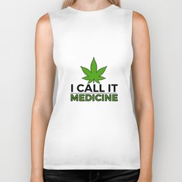 Medicine Weed Cannabis leaf stoner gift Biker Tank
