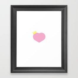royal heart Framed Art Print