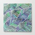 Tropical Leaves – Blue/Green Palette by catcoq