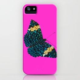 Butterfly on Purple iPhone Case
