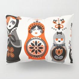 Russian Nesting Dolls – Red & Black Pillow Sham