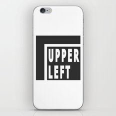 Upperleft Gray iPhone & iPod Skin