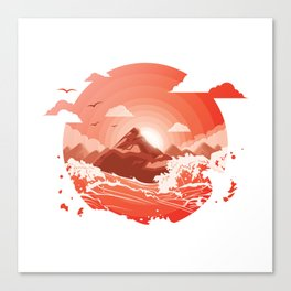 Red dusk Canvas Print