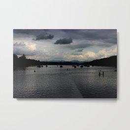 Dusk Lake Windermere Cumbria Metal Print
