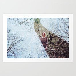 Double Exposure Art Print