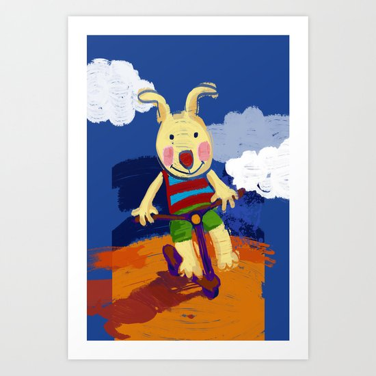 Scooter riding Art Print