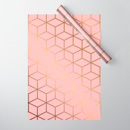 Pink and Gold Geometry 011 Wrapping Paper