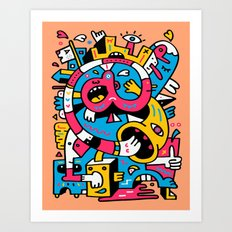 At The Third Stroke Art Print