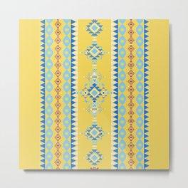 Bright Boho Tribal Pattern Metal Print
