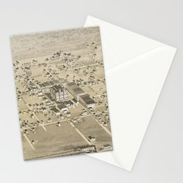 Vintage Pictorial Map of McKinney Texas (1876) Stationery Cards