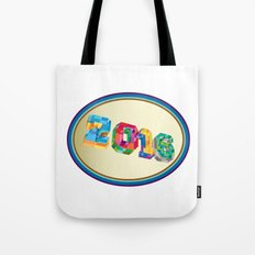 New Year 2016 Oval Low Polygon Tote Bag
