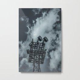 Radio Tower Cloudy Sky dark Metal Print
