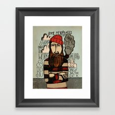 SOME MEN ARE SAILORS Framed Art Print
