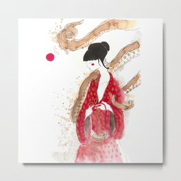 Geisha and tentacles (involvement) Metal Print
