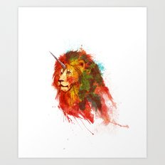 King of Imaginary Beasts Art Print