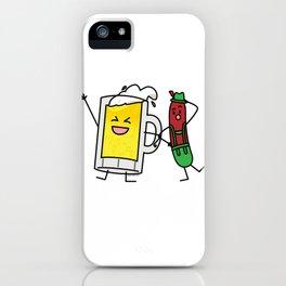 Beer sausage Octoberfest Oktoberfest lederhosen drunk party foam iPhone Case