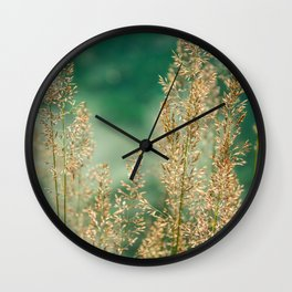 Grass on the water Wall Clock