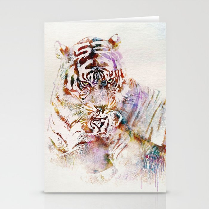 Tigress with Cub Stationery Cards