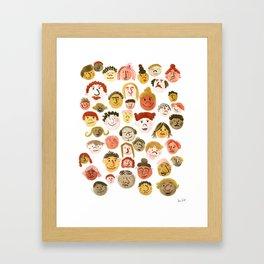 A Crowd of Diversity Framed Art Print