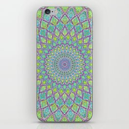 Purple Spirograph Mandala 0118 iPhone Skin