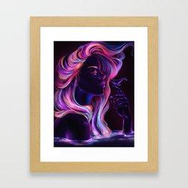 Blacklight Babe Framed Art Print