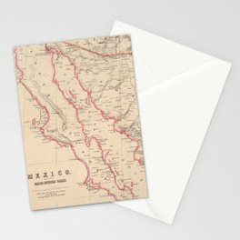 Vintage Map of Baja California (1857) Stationery Cards
