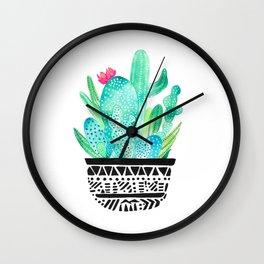 Pot Me A Cacti! Wall Clock