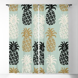 Retro Mid Century Modern Pineapple Pattern 78 Blackout Curtain