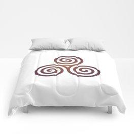 St. Patrick's Day Celtic Red Triskelion #1 Comforters
