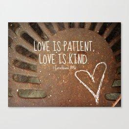 Rusty Love Canvas Print